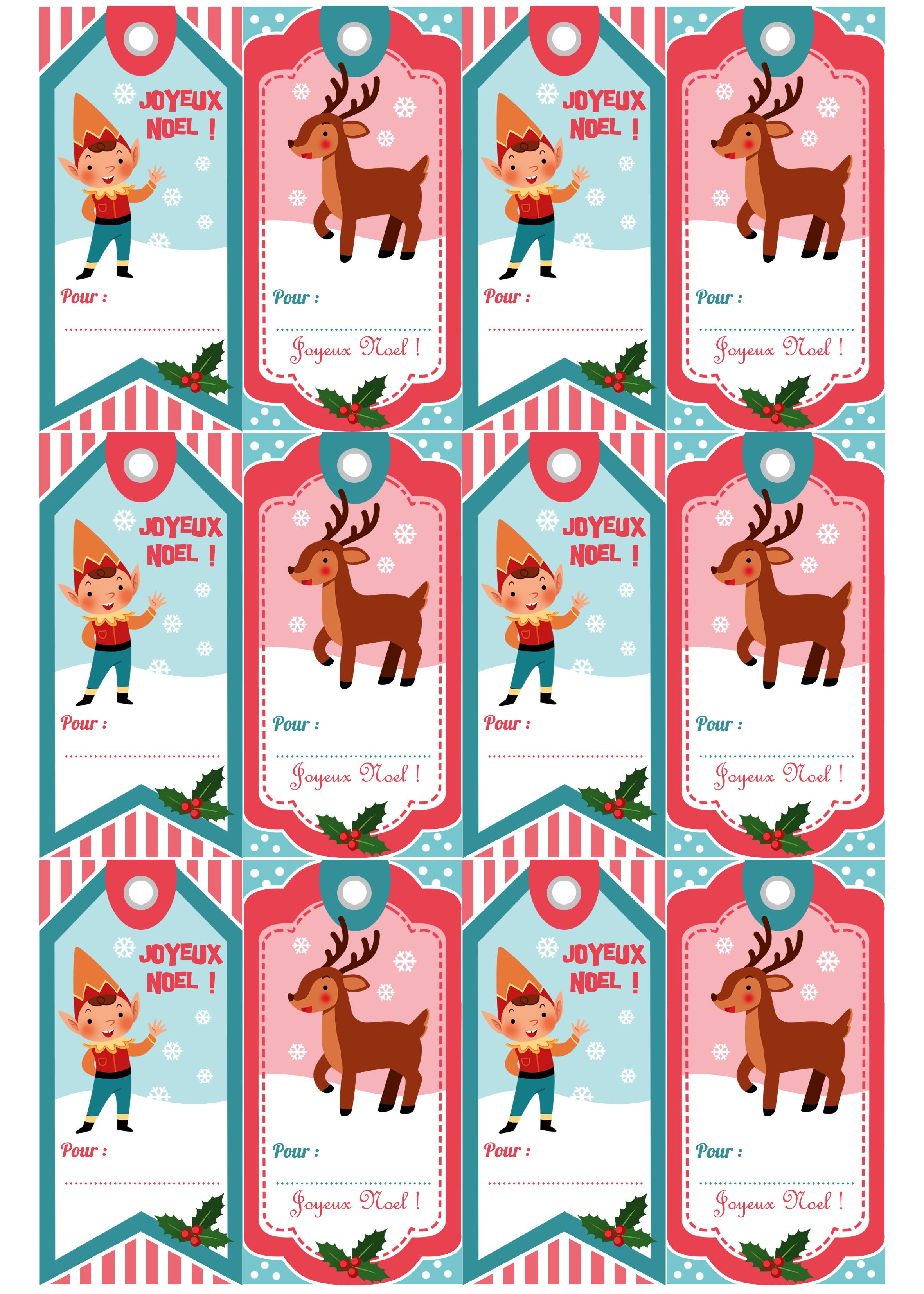 Bien connu ASTUCE*° Des étiquettes pour vos cadeaux de Noël à imprimer  VU26