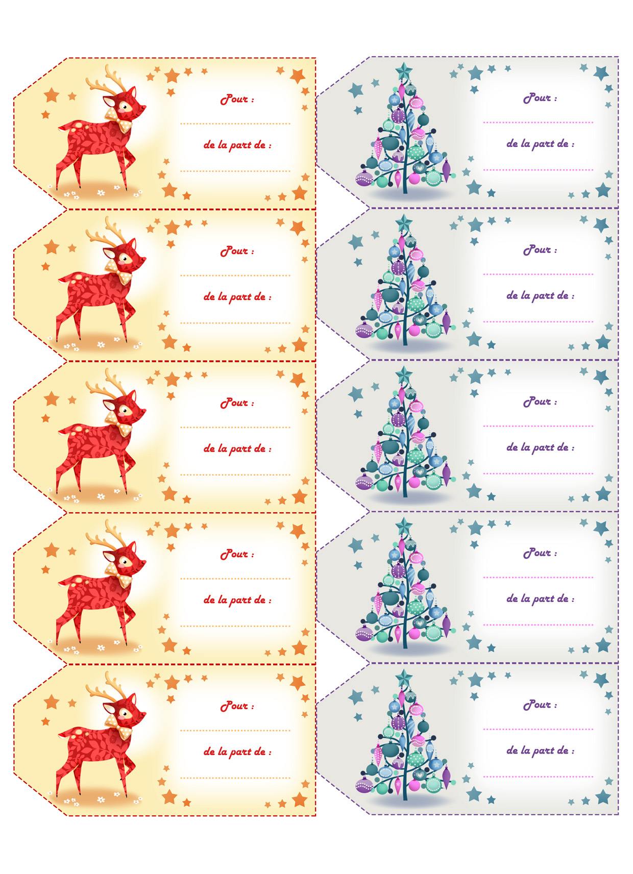 Fabuleux ASTUCE*° Des étiquettes pour vos cadeaux de Noël à imprimer  UZ32